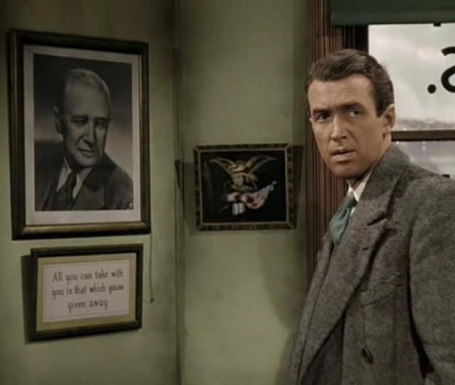 Its A Wonderful Life 1946 Colorized James Stewart