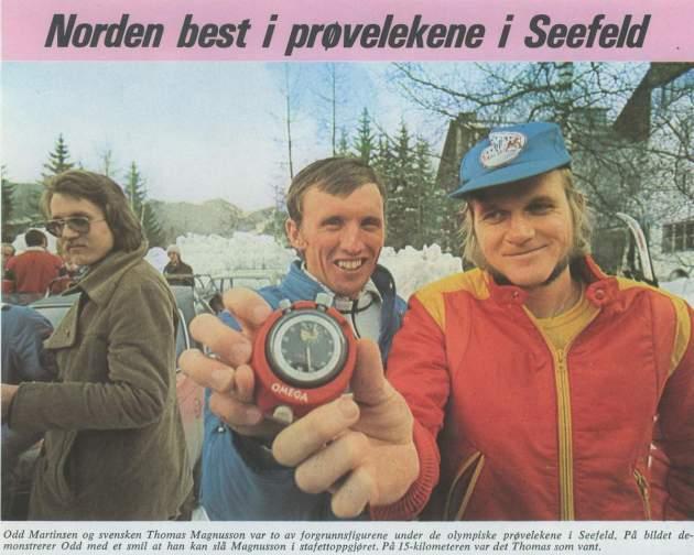 Det hendte 75 - Norden best i prøvelekene i Seefeld